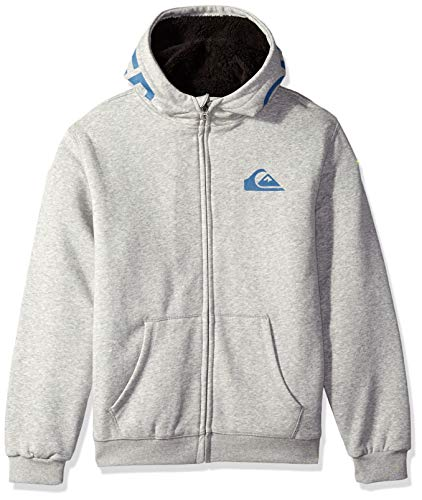 Quiksilver Boys Best Wave Sherpa Youth Zip UP Jacket, Light Grey Heather S/10