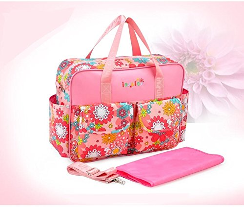 Bright Colour Large Waterproof Baby Nappy Changing Bags Diaper Hospital Bag NEW