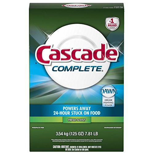 Cascade Complete Powder Dishwasher Detergent, Fresh Scent, 1