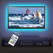 Derlson® Bias Lighting for TV. Decorative Light / LED Strip Lights / Backlight Kit for Home-Theater ,Under-Cabinet , PC Monitor, Furniture, Decoration (Multi-Color RGB,USB Powered , Remote Control)