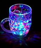 Stylin Glass Beer Mug with Inductive Rainbow Color Disco LED 250 ml Capacity -Set of 7 Colour Changing Liquid