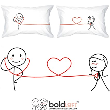 47aca377a2 BoldLoft My Heart Beats for You Couples Pillowcases- Gifts for Couples,For  Him Gifts