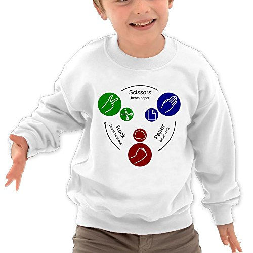 Price comparison product image BABYONE Lovely Funny Game Rock Paper Scissor Kids Crew Neck Hoodie