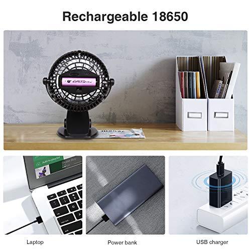 Skygenius Battery Operated Clip On Fan Mini Desk Fan