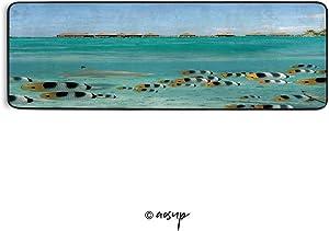 Homenon Runner Area Rug Blacktip Reef Shark Chasing Fish Lagoon of Bora Bora Tahiti Non Slip Floor Mat for Hallway Entryway Living Room Bedroom Dorm Home Decor 72x24 inches