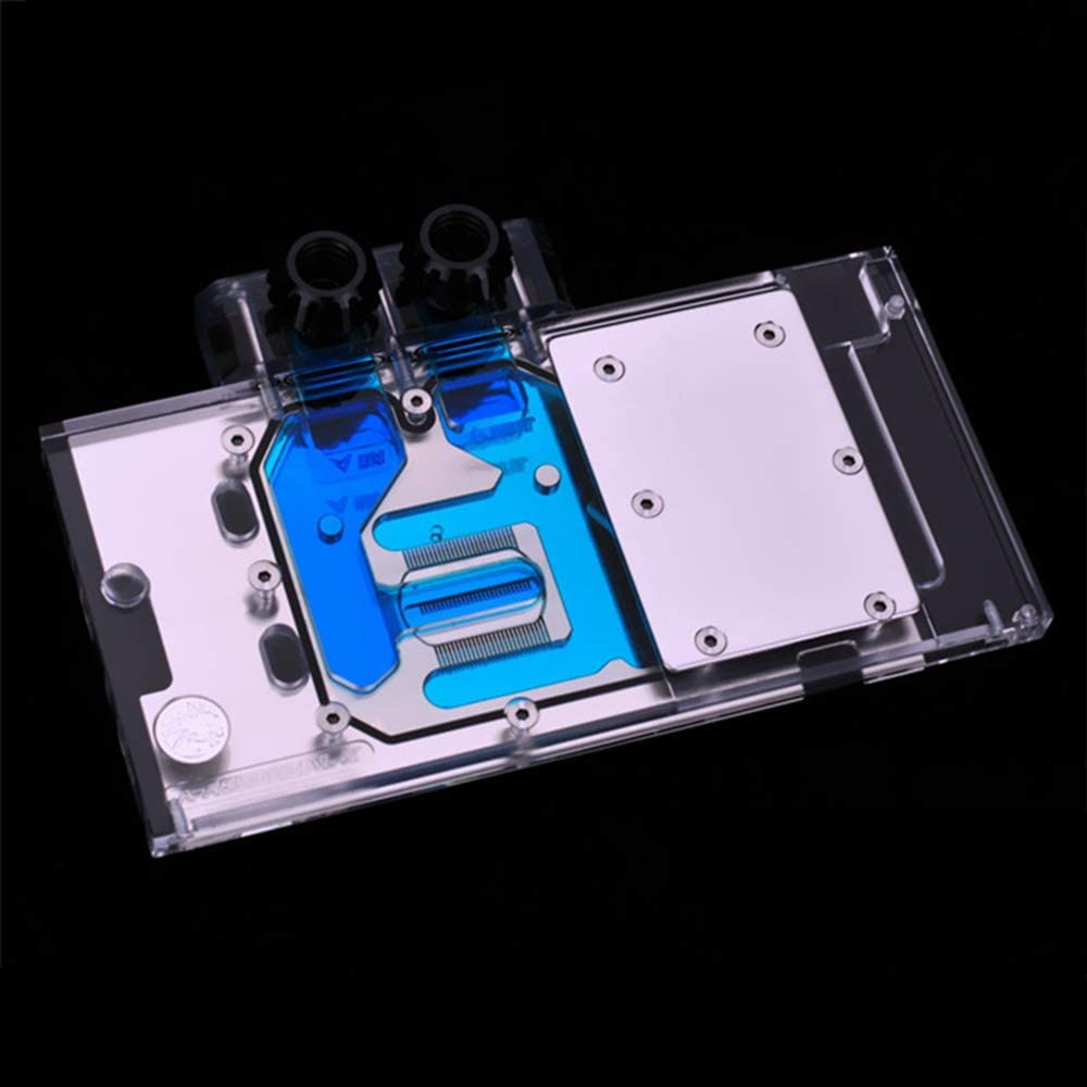 Bykski GPU Copper RBW LED Water Cooling Block for Asus RX580 RX570 RX480