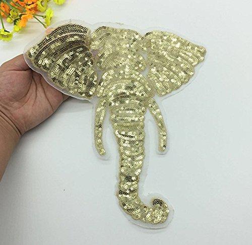 Hosaire Ecusson Ricamato Patch termoadesivo creativi P/épin di Elefante Adesivo Tessuto appliqu/é Ricamato per Vetement Jeans Giacca Bambini Donna Uomo Fai da Te Decorazione