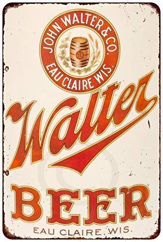 New Tin Sign Aluminum Retro John Walter Beer Vintage Metal Sign 8 X 12 Inch ()