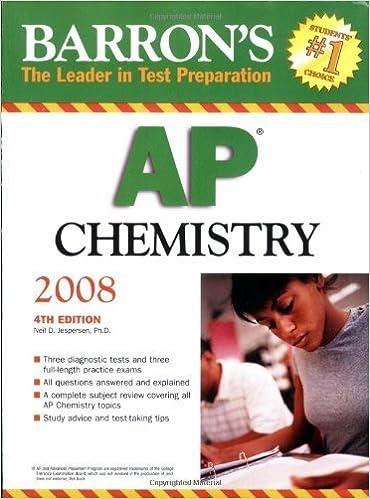 Barron's AP Chemistry by Neil D. Jespersen Ph.D. (2007-09-01)