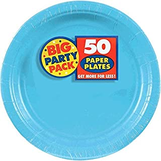 Amscan Caribbean Blue Paper Plate Big Party Pack, 50 Ct. (B004UUE0FW) | Amazon price tracker / tracking, Amazon price history charts, Amazon price watches, Amazon price drop alerts