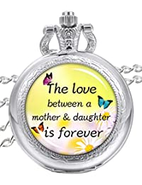 Pocket Watch The Love Between Mother and Daughter is Forever Personalized Pocket Watch Mom Daughter Jewelry Gift