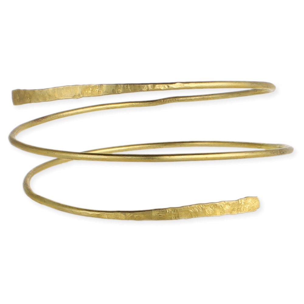 Gold Hammered Wrap Armband ZAD B1783GD