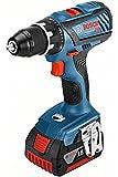 Bosch Professional Akku Bohrschrauber GSR 18V-28 (2x 5,0 Ah Akku, Ladegerät, L-BOXX, Vollmetallspannfutter, 18 Volt, Schrauben-∅ max.: 8 mm, Drehmoment max.: 63 Nm)