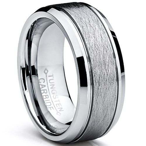 rings plain wedding comfort band steel silver stainless fit ring