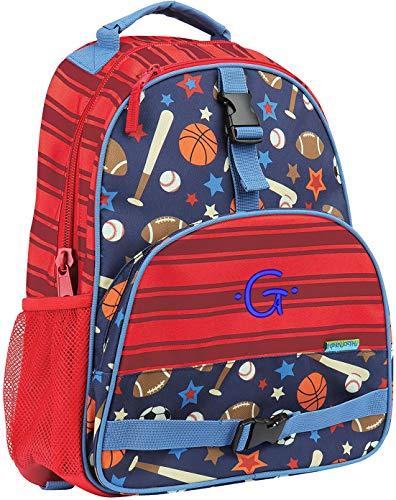Monogrammed Stephen Joseph Sports All Over Print Backpack, w