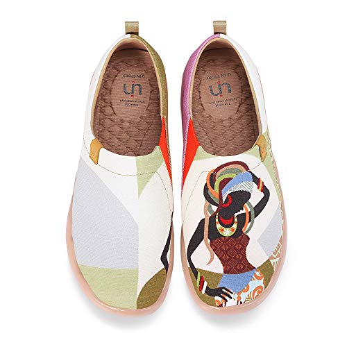 UIN Wandern Slip On Schuhe Damen Rot Schuhe Sneaker Schlupfschuh Reise Schuhe Segelschuhe