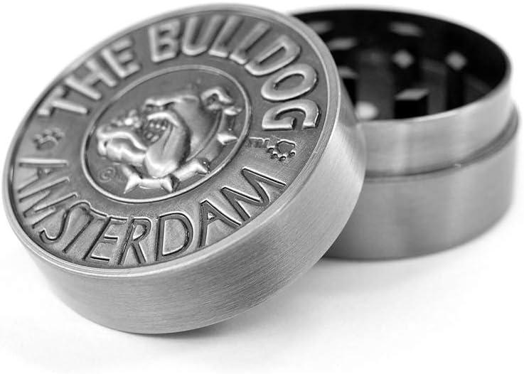 Bulldog Amsterdam Grinder Especias, Tabaco, Hierbas Grinder Metálico, 2