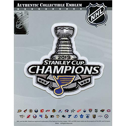 2019 NHL Stanley Cup Final Champions St Louis Blues Commemorative Jersey Patch ()