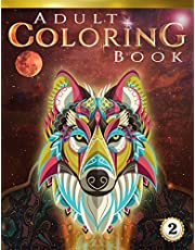 Adult Coloring Book: 70+ Stress-relieving designs of Animals, Flowers, Henna, Family and much more!