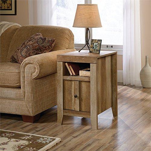 Sauder Dakota Pass Side Table, Craftsman Oak finish (Living Tables Room Sets Furniture)