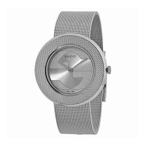4fc0acf2221 Gucci U Play Silver Dial Stainless Steel Quartz Ladies Watch YA129407