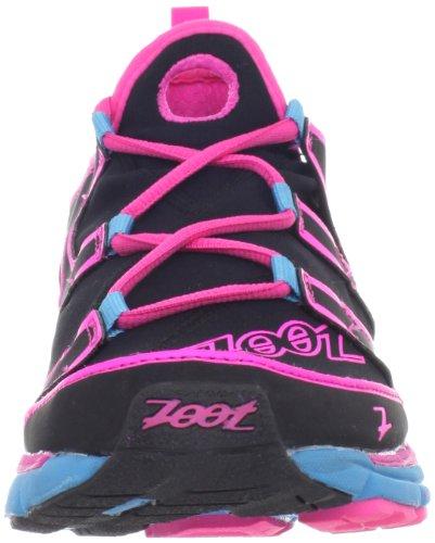 Zoot Womens Ultra Kalani 3.0 Chaussure De Course Noir / Rose Lueur / Bleu Atomique