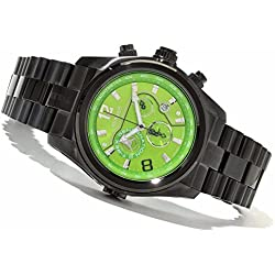 Renato Men's T-Rex Gen III Swiss Quartz Chronograph Green Dial Black IP Watch TB3-G-TB3-5040D