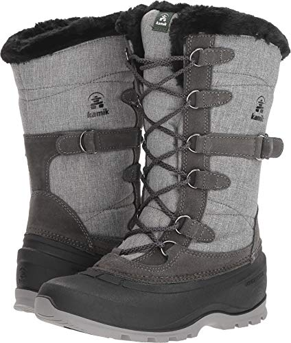 Kamik Women's Snowvalley 2 Snow Boot, Charcoal, 9 B(M) US -