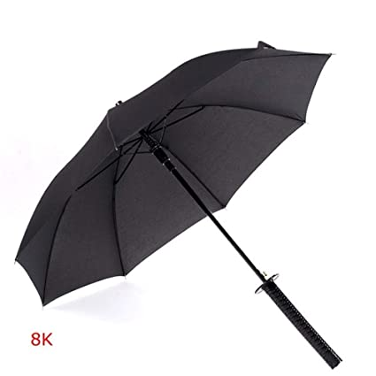Creative Samurai Umbrella Paraguas a Prueba de Viento, Palo ...
