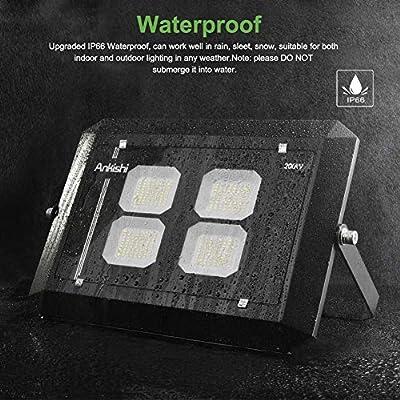 LED Flood Light Outdoor 200W, 16000lumen Soft White Glow 3000K, IP66 Waterproof Super Bright Security Lights, Outdoor Floodlight for Yard, Garden, Playground, Basketball Court