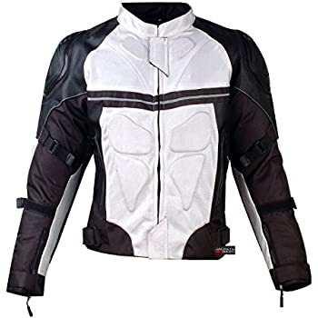 Amazon.com: BILT Techno Mesh Motorcycle Jacket - XL, White/Black ...