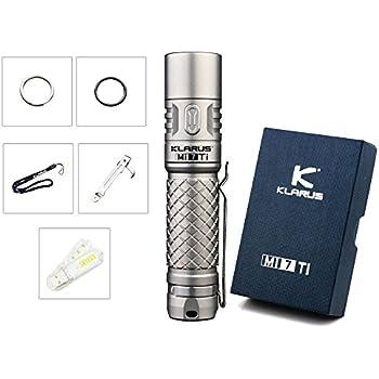 Bundle: Klarus Mi7 Ti CREE XP-L HI V3 LED 700 Lumens Titanium Flashlight with AA Battery and SkyBen USB Light (MI7 Ti)