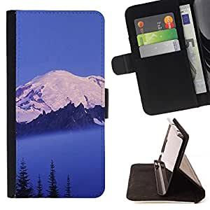 For HTC One Mini 2 M8 MINI Case , Naturaleza Hermosa Forrest Verde 146- la tarjeta de Crédito Slots PU Funda de cuero Monedero caso cubierta de piel