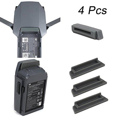 Mavic Pro Battery Cover Threeking DJI Mavic Pro/Platinum Drone and Battery Terminal Dust Cover Water-Proof Dust Cover Plug (4 Pcs)