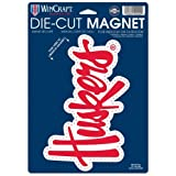 NCAA University of Nebraska 81802013 Die Cut Logo Magnet, Small, Black
