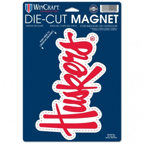 sity of Nebraska 81802013 Die Cut Logo Magnet, Small, Black ()