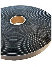 EPDM - schuim zwart. Lengte: 10 m op rol. eenzijdig zelfklevend