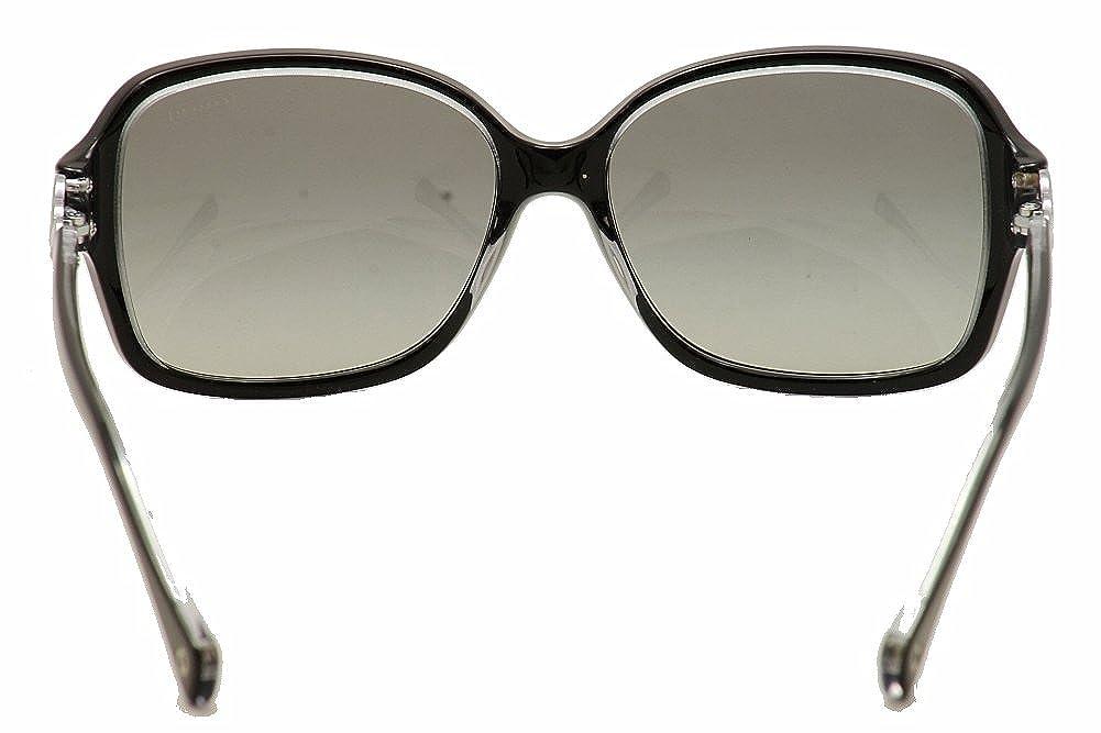 c7e98a62f90dc Amazon.com  Coach Frances HC8009 Sunglasses - 504811 Black Crystal (Gray  Gradient Lens) - 57mm  Coach  Shoes