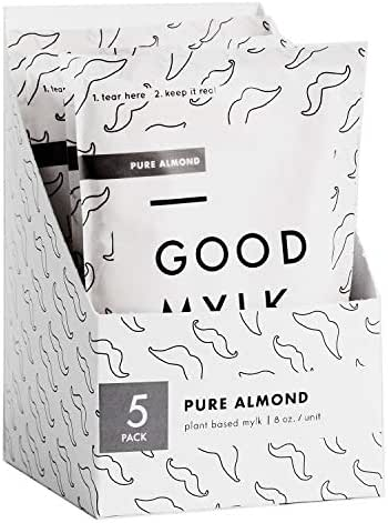 Goodmylk Co. - Ready to Drink Almond Milk (10 Pack) - 8 oz Ready to Drink Packets - Organic, Non-GMO, Vegan, Low Glycemic, Sustainable, Keto, Dairy Free (Unsweetened)