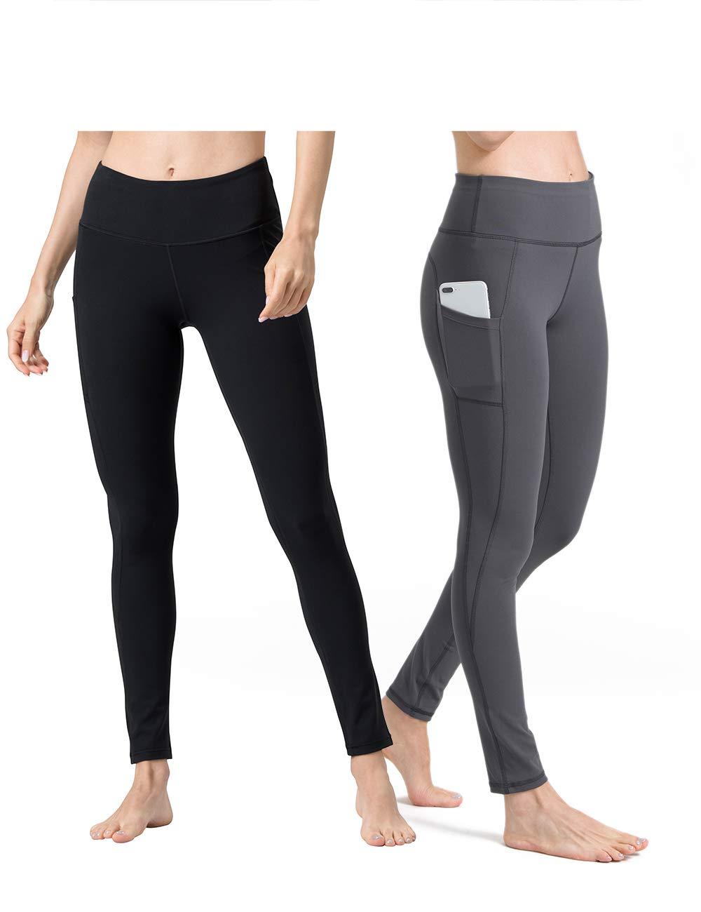 4e4c342e618d58 ALONG FIT Yoga Pants for Women mesh Leggings with Side Pockets High Waisted  Leggings