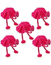 TOYANDONA 5PCS Ostrich String Puppets, Children Funny Pull String Plush Ostrich Marionette Toy for Over 3 Years Old (Rosy)