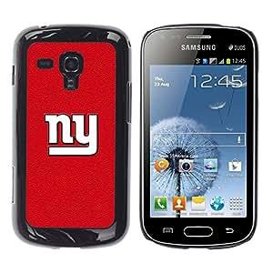 Nueva York Red - Metal de aluminio y de plástico duro Caja del teléfono - Negro - Samsung Galaxy S Duos S7562