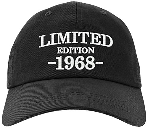 Cap 1968-50th Birthday Gift, Limited Edition All Original Parts Baseball Hat 1968-EM-0004-Black -