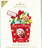 QXG4199 Baby's First Christmas Photo Holder 2011 Hallmark Keepsake Ornament