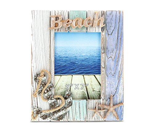 CoTa Global Aquarius Beach Photo Frame - 5 inch x 7 inch - Nautical Decor - Item #9160 by CoTa Global