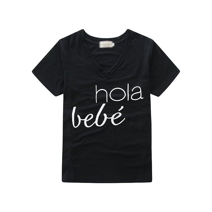 LINNUO T-Shirts Impreso Tops Camisas Blusas Camisetas Mujeres Niña Madre e Hija Bodies Romper Jumpsuit Bebé (Negro Shirt,XXL (Mamá)): Amazon.es: Ropa y ...