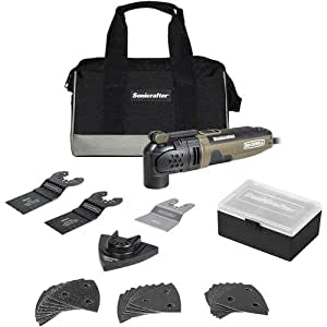 Rockwell 3.0 Amp Sonicrafter Oscillating Multi-Tool, with Variable Speed, Hyperlock Clamping, and Universal Blade Fit System, 31-Piece Kit with Bag – RK5121