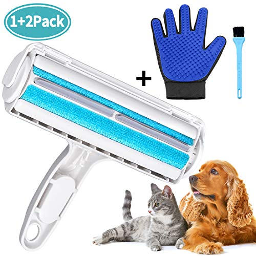 Pet Hair Remover, Reusable Lint Remover Brush, Cat & Dog Hair Remover Roller - Effective Removal of lint and Hair from Furniture, Carpets, Bedding and More (Best Pet Hair Remover For Carpet)