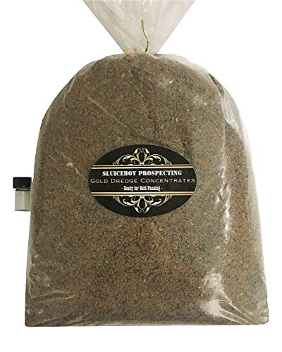 Sluiceboy Prospecting Gold Paydirt - 5 lb Bag of Gold Dredge Concentrates Guaranteed Gold Ready for Panning Gift IDEA