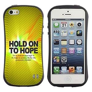 Suave TPU GEL Carcasa Funda Silicona Blando Estuche Caso de protección (para) Apple Iphone 5 / 5S / CECELL Phone case / / BIBLE Hold On Hope /